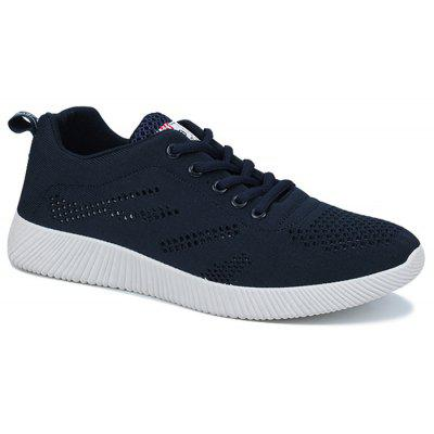 Buy DEEP BLUE Breathable Lace Up Casual Shoes for $30.14 in GearBest store