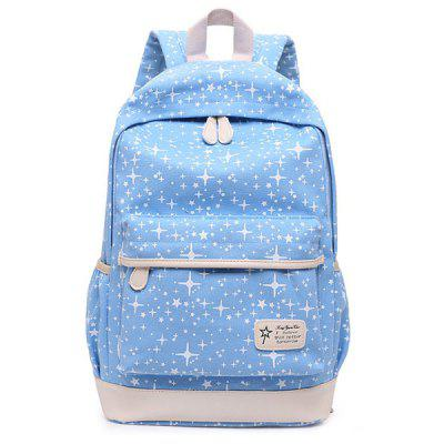 3 Pieces Canvas Star Print Backpack Set3 Pieces Canvas Star Print Backpack Set<br><br>Closure Type: Zipper<br>Gender: For Women<br>Handbag Size: Medium(30-50cm)<br>Handbag Type: Backpack<br>Interior: Interior Zipper Pocket, Cell Phone Pocket<br>Main Material: Canvas<br>Occasion: Versatile<br>Package Contents: 1 x Backapck,1 x Crossbody Bag,1 x Wristlet<br>Pattern Type: Star<br>Size(CM)(L*W*H): Backpack Size: 28*15*45<br>Style: Casual<br>Weight: 1.2000kg