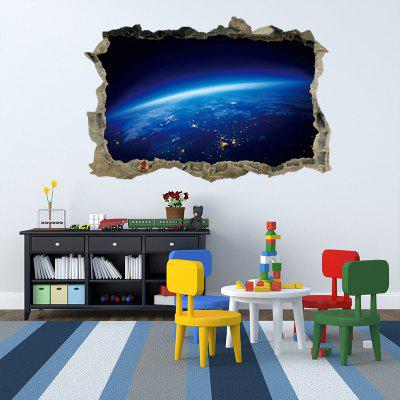 Planet Surface 3D Broken Wall Art Aufkleber