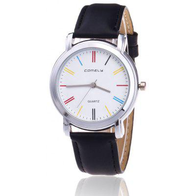 Buy BLACK Faux Leather Band Round Watch for $8.92 in GearBest store