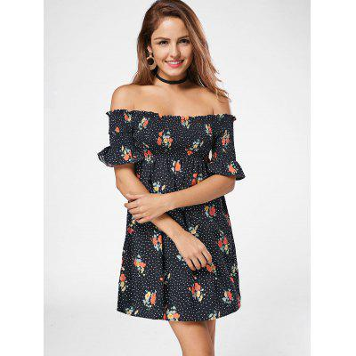 Off The Shoulder Smocked Floral DressWomens Dresses<br>Off The Shoulder Smocked Floral Dress<br><br>Dresses Length: Mini<br>Material: Cotton, Polyester<br>Neckline: Off The Shoulder<br>Package Contents: 1 x Dress<br>Pattern Type: Floral, Polka Dot<br>Season: Summer<br>Silhouette: A-Line<br>Sleeve Length: Short Sleeves<br>Style: Casual<br>Weight: 0.2500kg<br>With Belt: No