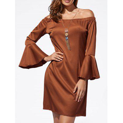 Mini Off The Shoulder Bell Sleeve Dress