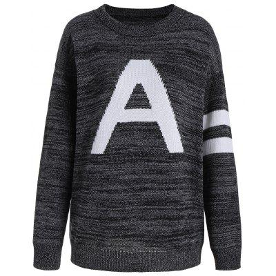 Knit Pullover Plus Size Graphic Sweater
