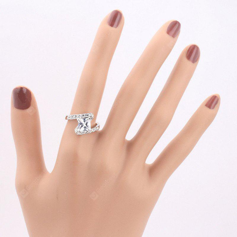 Rhinestone Faux Crystal Sparkly Finger Ring