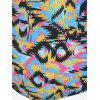 Strappy Colorful Printed Cutout Plus Size Swimsuit - COLORMIX