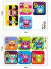 Hopscotch Monsters Wall Art Sticker For Kids Room - COLORMIX