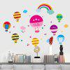 Cartoon Hot Air Balloon Wall Art Stickers Para Crianças Quarto - COLORMIX