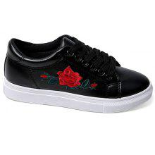 PU Leather Embroidery Athletic Shoes