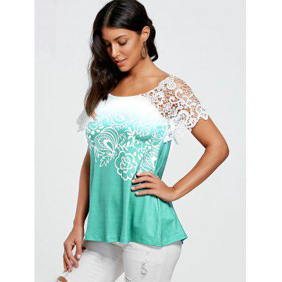 Floral Lace Trim T-shirtTees<br>Floral Lace Trim T-shirt<br><br>Collar: Scoop Neck<br>Embellishment: Lace<br>Material: Polyester, Spandex<br>Package Contents: 1 x T-shirt<br>Pattern Type: Floral<br>Season: Summer<br>Shirt Length: Regular<br>Sleeve Length: Short<br>Style: Fashion<br>Weight: 0.2300kg