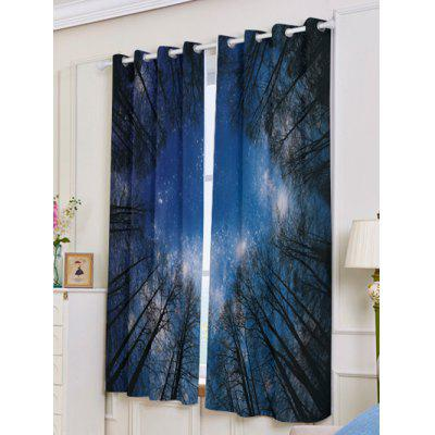 2Pcs Lightproof Forest Starry Sky Printed Window CurtainsWindow Treatments<br>2Pcs Lightproof Forest Starry Sky Printed Window Curtains<br><br>Applicable Window Type: French Window<br>Function: Blackout<br>Installation Type: Ceiling Installation<br>Location: Living Room,Window<br>Material: Polyester / Cotton<br>Opening and Closing Method: Left and Right Biparting Open<br>Package Contents: 2 x Window Curtains<br>Pattern Type: Plant<br>Processing Accessories Cost: Excluded<br>Style: Novelty<br>Type: Curtain<br>Use: Home, Hospital, Hotel, Office<br>Weight: 1.1000kg