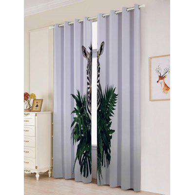 2Pcs Lightproof Zebra Pattern Window CurtainsWindow Treatments<br>2Pcs Lightproof Zebra Pattern Window Curtains<br><br>Applicable Window Type: French Window<br>Function: Blackout<br>Installation Type: Ceiling Installation<br>Location: Window<br>Material: Polyester / Cotton<br>Opening and Closing Method: Left and Right Biparting Open<br>Package Contents: 2 x Window Curtains<br>Processing: Punching<br>Processing Accessories Cost: Excluded<br>Style: Modern<br>Type: Curtain<br>Use: Home, Hotel, Office<br>Weight: 1.4000kg