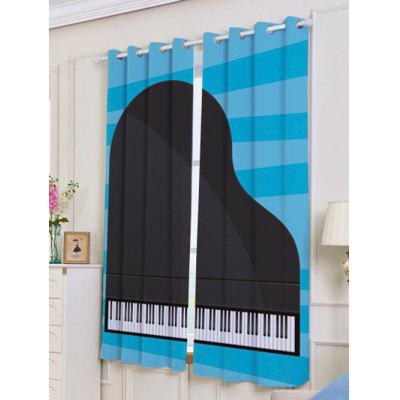 2Pcs Lightproof Piano Printed Window CurtainsWindow Treatments<br>2Pcs Lightproof Piano Printed Window Curtains<br><br>Applicable Window Type: French Window<br>Function: Blackout<br>Installation Type: Ceiling Installation<br>Location: Living Room,Window<br>Material: Polyester / Cotton<br>Opening and Closing Method: Left and Right Biparting Open<br>Package Contents: 2 x Window Curtains<br>Pattern Type: Print<br>Processing Accessories Cost: Excluded<br>Style: Fashion<br>Type: Curtain<br>Use: Home, Hospital, Hotel, Office<br>Weight: 1.1000kg