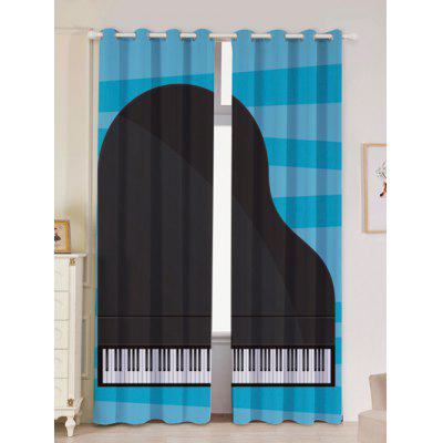 Piano Printed Window Curtains