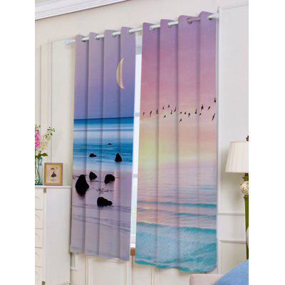 2Pcs Seaside Sunset Printed Lightproof Window CurtainsWindow Treatments<br>2Pcs Seaside Sunset Printed Lightproof Window Curtains<br><br>Applicable Window Type: French Window<br>Function: Blackout<br>Installation Type: Ceiling Installation<br>Location: Living Room,Window<br>Material: Polyester / Cotton<br>Opening and Closing Method: Left and Right Biparting Open<br>Package Contents: 2 x Window Curtains<br>Pattern Type: Landscape<br>Processing Accessories Cost: Excluded<br>Style: Fresh Style<br>Type: Curtain<br>Use: Home, Hospital, Hotel, Office<br>Weight: 1.1000kg