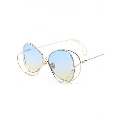 Metal Curve Surround Ombre SunglassesStylish Sunglasses<br>Metal Curve Surround Ombre Sunglasses<br><br>Frame Color: Gold<br>Frame Length: 14.0CM<br>Frame material: Other<br>Gender: For Women<br>Group: Adult<br>Lens height: 5.3CM<br>Lens material: Resin<br>Lens width: 6.2CM<br>Nose: 1.6CM<br>Package Contents: 1 x Sunglasses<br>Shape: Butterfly<br>Style: Fashion<br>Temple Length: 13.8CM<br>Weight: 0.1200kg