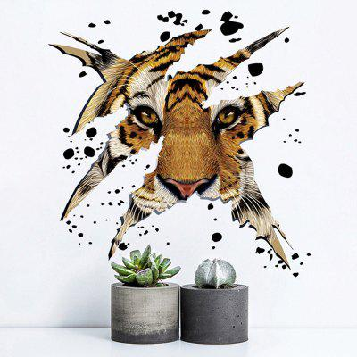 3D Tiger Head Shape Decorative Wall Sticker