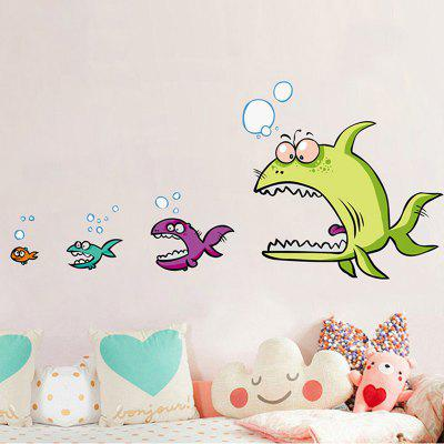 Desenhos animados Piranha Shape Decorative DIY Wall Sticker