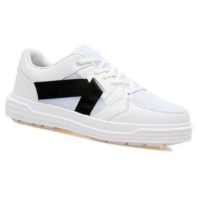 Buy WHITE Low-top Mesh Sneakers for $38.78 in GearBest store