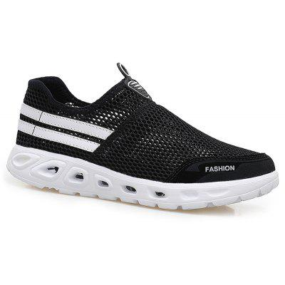 Buy BLACK 44 Color Block Slip On Mesh Sneakers for $32.01 in GearBest store