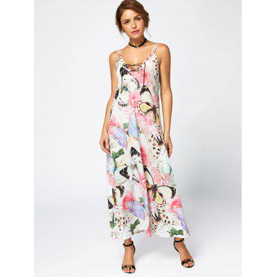 Rose Butterfly Print Maxi Slip DressWomens Dresses<br>Rose Butterfly Print Maxi Slip Dress<br><br>Dress Type: Slip Dress<br>Dresses Length: Ankle-Length<br>Embellishment: Criss-Cross<br>Material: Polyester<br>Neckline: Spaghetti Strap<br>Package Contents: 1 x Dress<br>Pattern Type: Print, Butterfly, Floral<br>Placement Print: No<br>Season: Summer<br>Silhouette: Shift<br>Sleeve Length: Sleeveless<br>Style: Casual<br>Waist: Natural<br>Weight: 0.2200kg<br>With Belt: No
