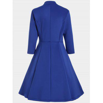 Three Quarter Sleeves V Neck DressWomens Dresses<br>Three Quarter Sleeves V Neck Dress<br><br>Dresses Length: Knee-Length<br>Material: Polyester<br>Neckline: V-Neck<br>Occasion: Causal, Going Out<br>Package Contents: 1 x Dress<br>Pattern Type: Solid Color<br>Season: Spring, Fall<br>Silhouette: A-Line<br>Sleeve Length: 3/4 Length Sleeves<br>Style: Brief<br>Weight: 0.7000kg<br>With Belt: No