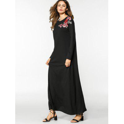 Floral Embroidered Long Sleeve Maxi DressMaxi Dresses<br>Floral Embroidered Long Sleeve Maxi Dress<br><br>Dresses Length: Floor-Length<br>Embellishment: Embroidery<br>Material: Cotton, Polyester<br>Neckline: Round Collar<br>Occasion: Casual , Going Out<br>Package Contents: 1 x Dress<br>Pattern Type: Floral<br>Season: Fall, Spring<br>Sleeve Length: Long Sleeves<br>Weight: 0.4500kg<br>With Belt: No
