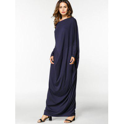 Draped Loose Long Sleeve Maxi DressMaxi Dresses<br>Draped Loose Long Sleeve Maxi Dress<br><br>Dresses Length: Floor-Length<br>Material: Cotton, Polyester<br>Neckline: Round Collar<br>Occasion: Casual, Going Out<br>Package Contents: 1 x Dress<br>Pattern Type: Solid<br>Season: Fall, Spring<br>Sleeve Length: Long Sleeves<br>Weight: 0.5000kg<br>With Belt: No
