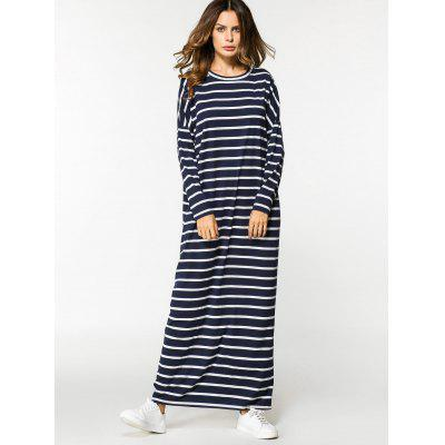 Stripes Long Sleeve Casual Maxi DressMaxi Dresses<br>Stripes Long Sleeve Casual Maxi Dress<br><br>Dresses Length: Floor-Length<br>Material: Cotton, Polyester<br>Neckline: Round Collar<br>Occasion: Casual , Going Out<br>Package Contents: 1 x Dress<br>Pattern Type: Striped<br>Season: Fall, Spring<br>Sleeve Length: Long Sleeves<br>Weight: 0.3800kg<br>With Belt: No