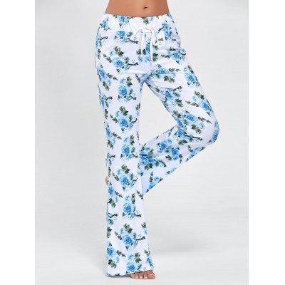 Buy COLORMIX 2XL Drawstring Waist Floral Pajama Pants for $18.58 in GearBest store