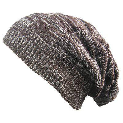 Buy COFFEE Striped Rib Knitting Warm Beanie Hat for $5.13 in GearBest store