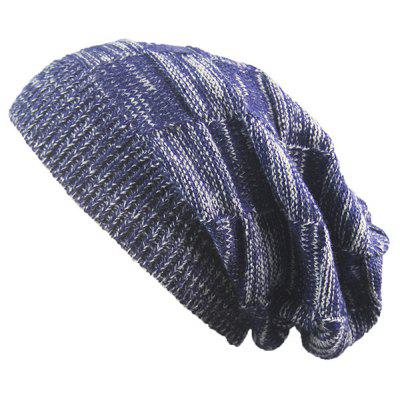 Buy CADETBLUE Striped Rib Knitting Warm Beanie Hat for $5.13 in GearBest store