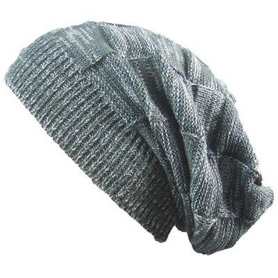 Buy DEEP GRAY Striped Rib Knitting Warm Beanie Hat for $5.13 in GearBest store