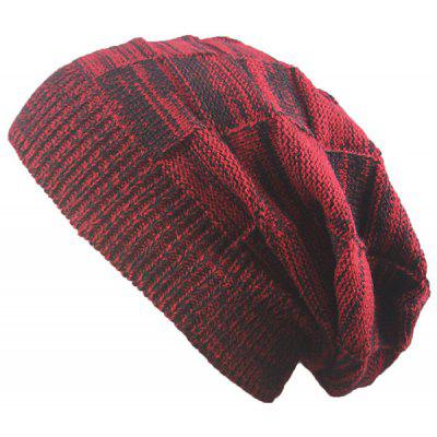 Buy CLARET Striped Rib Knitting Warm Beanie Hat for $5.13 in GearBest store