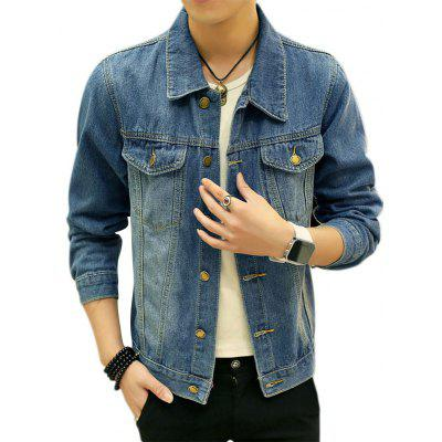 Double Chest Pocket Jean Jacket