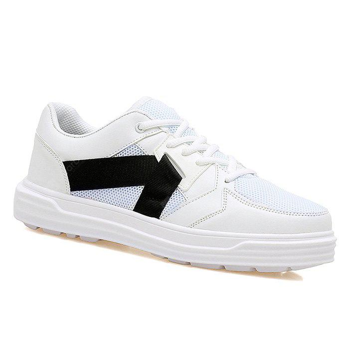 WHITE Low-top Mesh Sneakers