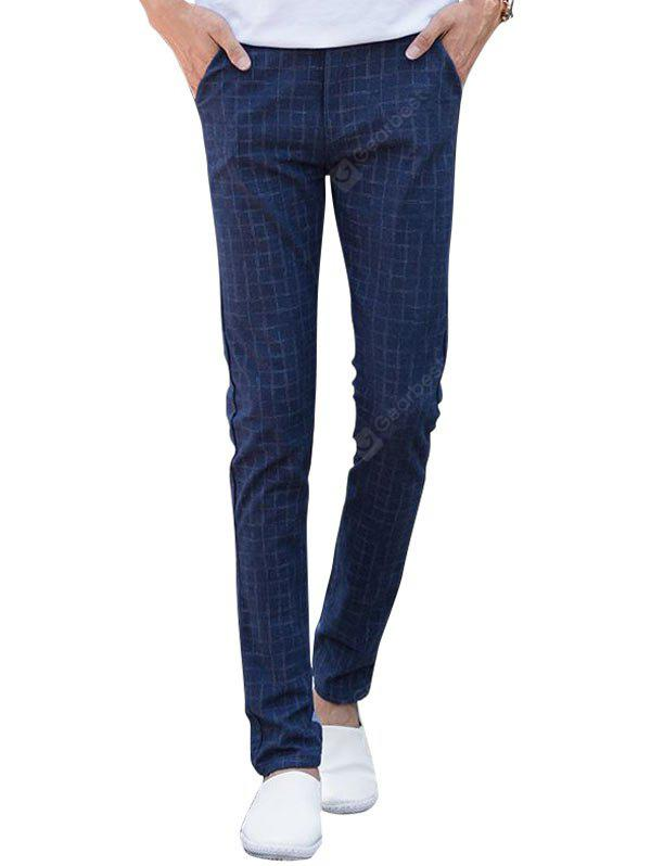 Zip Fly Checked Chino Pants