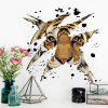 3D Tiger Head Shape Decorative Wall Sticker - MARROM CLARO