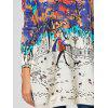 Cartoon Pattern Ombre Pullover Sweater - OFF-WHITE