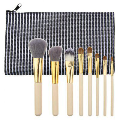 8Pcs Portable Multipurpose Makeup Brushes Set with Bag