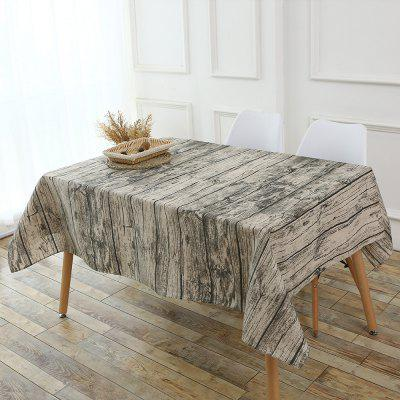 Original Wood Texture Table Cloth