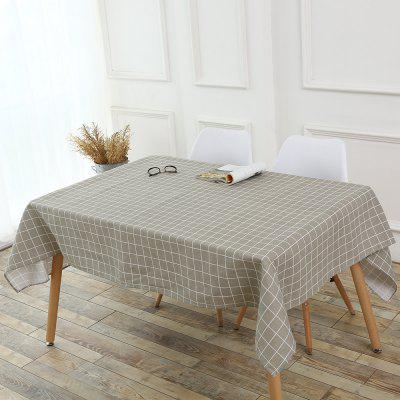 Grids Patterned Kitchen Decor Tablecloth