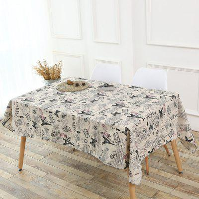 Tower Words Pattern Table Cloth