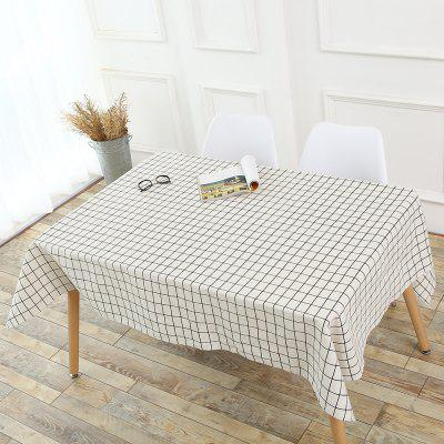 Tartan Patterned Kitchen Decor Tablecloth
