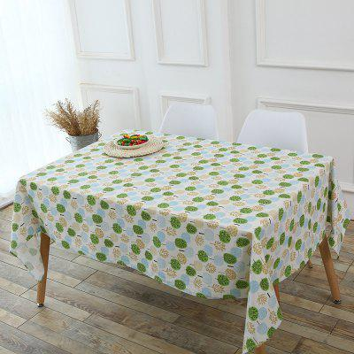 Trees Pattern Kitchen Tools Table Cloth