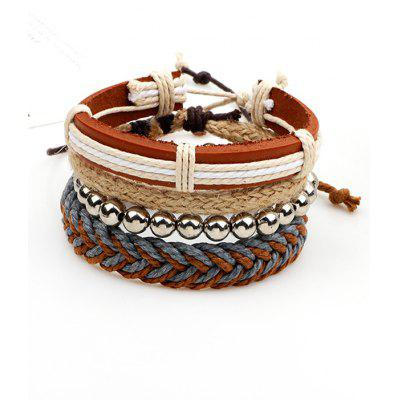 Beaded Woven Straw Rope Friendship Bracelets
