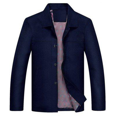 Buy DEEP BLUE Turndown Collar Single Breasted Slim Fit Jacket for $60.00 in GearBest store