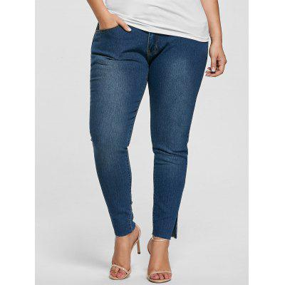 Plus Size Ankle Length Skinny Jeans
