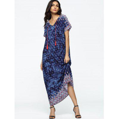 Tribal Tassels Loose Maxi DressMaxi Dresses<br>Tribal Tassels Loose Maxi Dress<br><br>Dresses Length: Floor-Length<br>Embellishment: Tassel<br>Material: Cotton, Polyester<br>Neckline: V-Neck<br>Occasion: Casual, Going Out<br>Package Contents: 1 x Dress<br>Pattern Type: Print<br>Season: Summer<br>Sleeve Length: Short Sleeves<br>Weight: 0.2800kg<br>With Belt: No