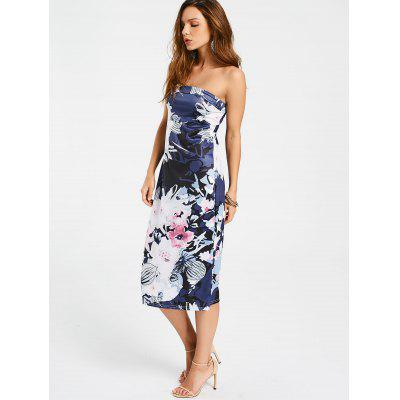 Floral Sheath Midi Tube DressWomens Dresses<br>Floral Sheath Midi Tube Dress<br><br>Dresses Length: Mid-Calf<br>Material: Cotton, Polyester<br>Neckline: Strapless<br>Occasion: Casual, Day, Going Out<br>Package Contents: 1 x Dress<br>Pattern Type: Floral<br>Season: Summer<br>Silhouette: Sheath<br>Sleeve Length: Sleeveless<br>Style: Brief<br>Weight: 0.2300kg<br>With Belt: No