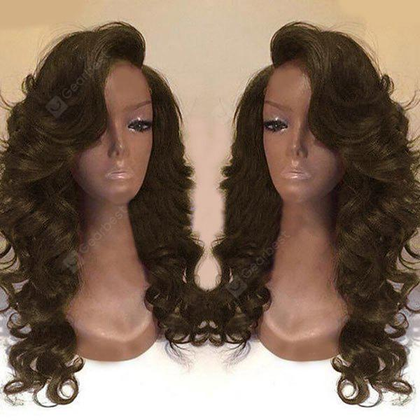 Buy Long Deep Side Part Body Wave Synthetic Wig BROWN